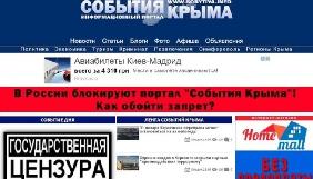 У Криму втретє заблоковано сайт «События Крыма»