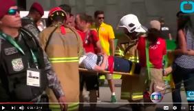 У Ріо на вболівальників з 18 метрів впала телекамера, є постраждалі (відео)