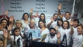 Ведучі «FM Галичина» провели в ефірі 67 годин та побили світовий рекорд