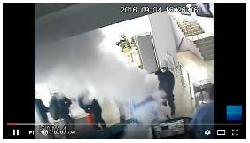 «Інтер» оприлюднив відео з камер спостереження в день підпалу НІСа (ВІДЕО)