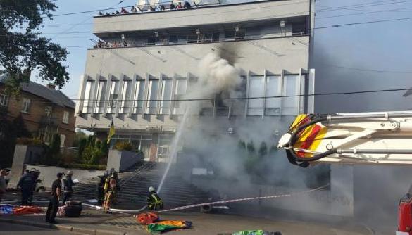 Аваков: Одна з версій слідства пожежі в НІС - самопідпал