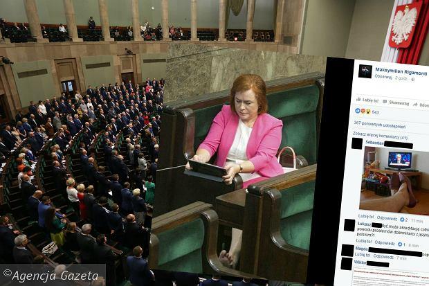 У Польщі журналіста позбавили акретидації Сейму за фото босої депутатки