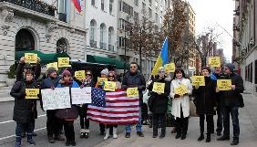 Українські активісти провели у Нью-Йорку акцію на підтримку Сенцова