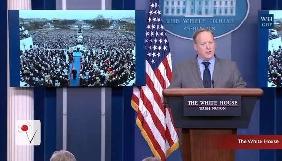 Прес-секретар Дональда Трампа насварив журналістів за «неправильне висвітлення» інавгурації