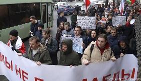 У Білорусі під час акцій протесту знову затримані журналісти