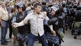 Під час протестів у Москві поліція затримувала журналіста «Эхо Москвы»