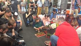 У центрі Києва відбулася журналістська акція до річниці вбивства Павла Шеремета (ФОТО)