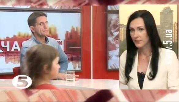Маленька донька Ганни Гопко увірвалася в прямий ефір 5-го каналу та полонила мережу