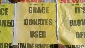 У Зімбабве журналіста затримали за публікацію про білизну першої леді