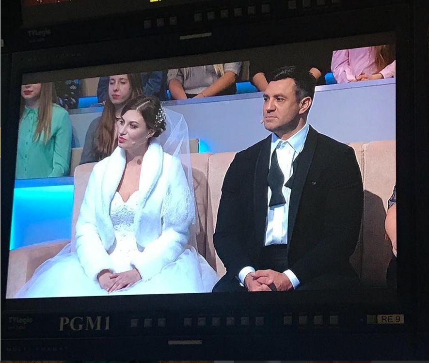 Николай Тищенко показал ведущую «Нового» в свадебном платье (ФОТО)
