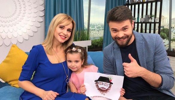 П'ятирічна донька Лілії Ребрик провела разом з мамою ефір «Ранку з Україною»