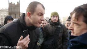 На акції щодо вироку Крисіну обплювали Ігоря Гужву