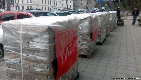 Працівники видання «Експрес» продовжують акції протесту через конфлікт з «Укрпоштою»