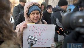 Влащенко – пікетувальникам каналу ZIK: Запросити Портнова на ефір – моя особиста ідея (ФОТО, ВІДЕО)