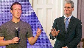 Марк Цукерберг й Тім Кук посперечались через витік даних Cambridge Analytica