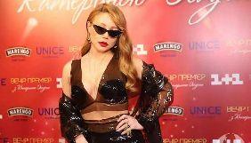 Тина Кароль удивила откровенным прозрачным нарядом на «Вечере премьер» Екатерины Осадчей