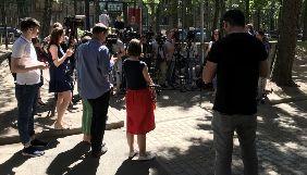 Журналісти під каналом ATR вшановують пам'ять Аркадія Бабченка (ФОТО, ВІДЕО)