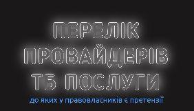 Українські правовласники створили ще один «чорний список» - провайдерів телебачення