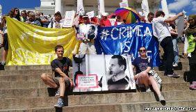 У Гельсінкі учасники мітингу проти саміту Росія-США висловили підтримку Олегу Сенцову