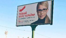 За півроку партія Тимошенко витратила близько 100 млн грн на рекламу «Нового курсу» – Комітет виборців України