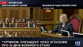 Верховна Рада підтримала введення воєнного стану в окремих областях України