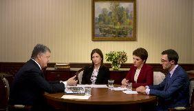 Порошенко дав інтерв'ю трьом українським каналам, CNN та NBC
