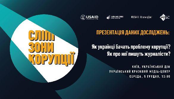 5 грудня – презентація даних досліджень УКМЦ «Сліпі зони корупції»