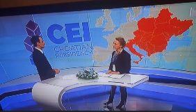 Хорватський мовник HRT вибачився за карту України без Криму