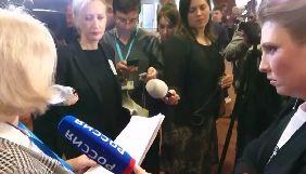 Речник Ради Європи заявив, що вважає неприйнятною поведінку ведучої «Россия 1» у кулуарах ПАРЄ