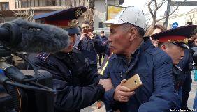 В Астані під час мітингу затримали журналістку «Настоящего времени»