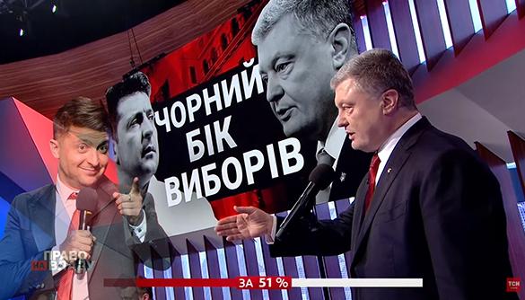 Володимир Зеленський та Петро Порошенко: перший контакт