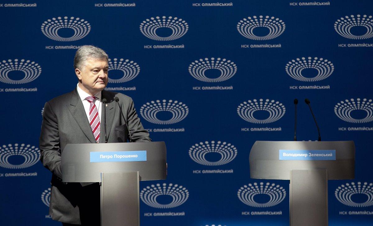Порошенко повідомив, що чекатиме Зеленського на ICTV та на Суспільному для проведення дебатів
