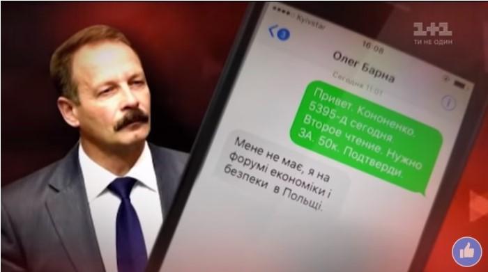 Висновок Незалежної медійної ради щодо сюжетів програми «Гроші» телеканалу «1+1» стосовно Олега Барни