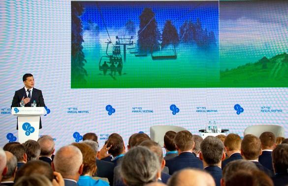 Зеленський закликав іноземний бізнес інвестувати у центр кіновиробництва в Києві
