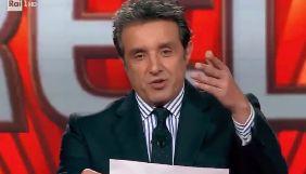 Італійський телеведучий вибачився за те, що назвав Україну «Малою Росією»