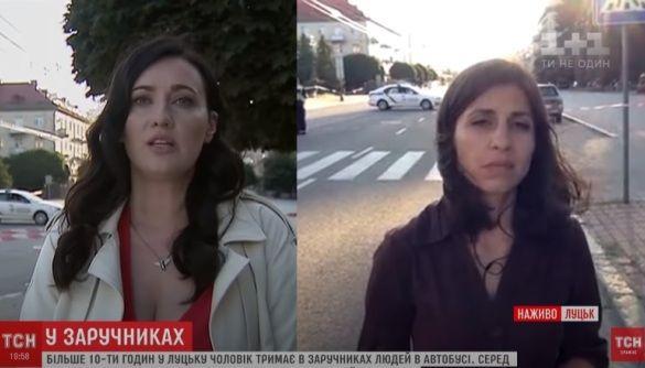 «МедіаЧек»: Новинарі «1+1» зімітували включення з різних місць, висвітлюючи захоплення заручників у Луцьку
