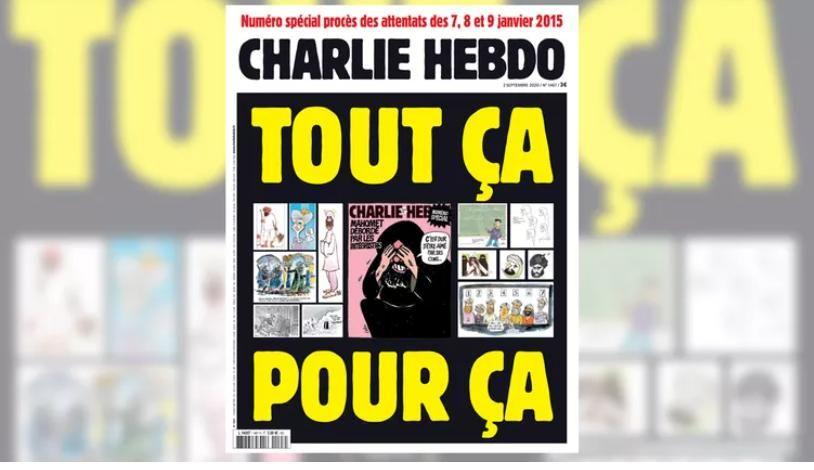 Charlie Hebdo повторно опублікував карикатуру на Мухаммеда