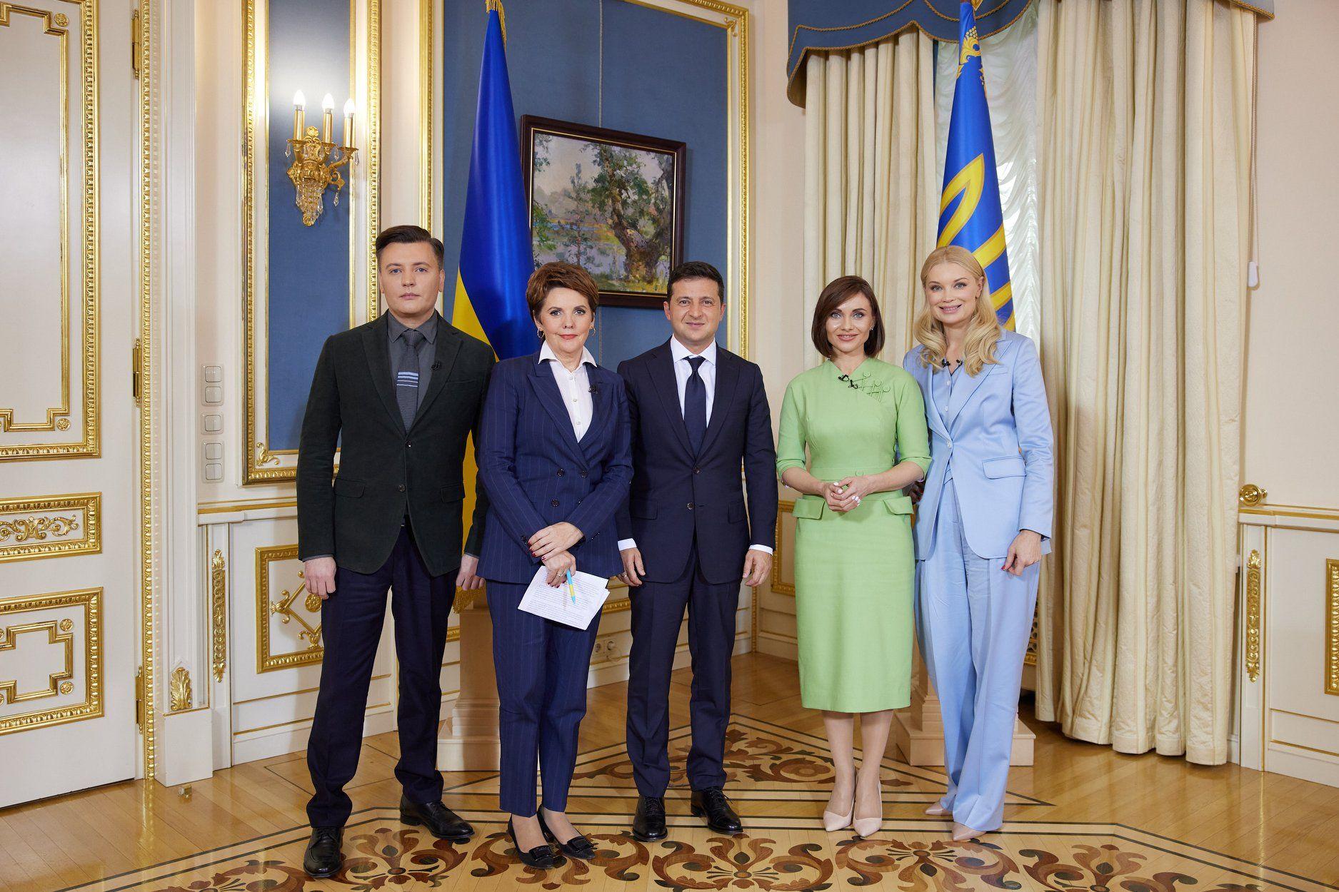 Володимир Зеленський дав інтерв'ю чотирьом українським каналам