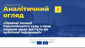Вийшов аналітичний огляд останніх рішень Європейського суду щодо доступу до інформації