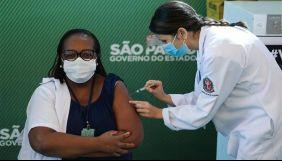 Бразилія схвалила китайську вакцину від COVID-19 для екстреного використання