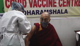 Далай-лама зробив щеплення від коронавірусу вакциною CoviShield