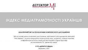 Індекс медіаграмотності українців (ДОСЛІДЖЕННЯ)