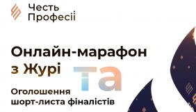 6 травня – оголошення шорт-листа фіналістів конкурсу «Честь професії 2021 року»