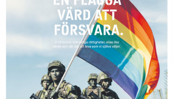 На обкладинці щоденної шведської газети зобразили військових з веселковим прапором ЛГБТ+. Це реклама збройних сил (ФОТО)